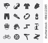 cycling vector icon | Shutterstock .eps vector #486112285