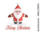 santa claus vector illustration ... | Shutterstock .eps vector #486115834
