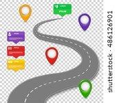 navigation infographics design. ... | Shutterstock .eps vector #486126901