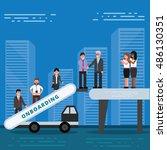 employees onboarding concept....   Shutterstock .eps vector #486130351