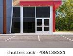 unoccupied generic store front  ... | Shutterstock . vector #486138331