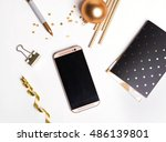 Cute Golden Decor And Phone...