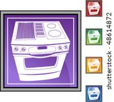 stove web button isolated on a... | Shutterstock . vector #48614872