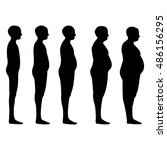 degree of obesity  the... | Shutterstock .eps vector #486156295