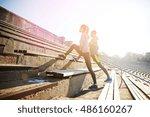 fitness  sport  exercising and... | Shutterstock . vector #486160267