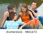 the group of young cheerful... | Shutterstock . vector #4861672