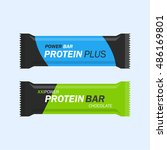 protein bar vector set isolated ... | Shutterstock .eps vector #486169801
