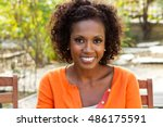 happy african american woman | Shutterstock . vector #486175591