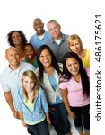 diverse group of people. | Shutterstock . vector #486175621