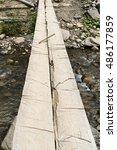 Homemade Bridge Over A Mountai...