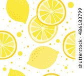 vector pattern with lemons | Shutterstock .eps vector #486183799