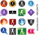 dancer web button isolated on a ... | Shutterstock . vector #48618670