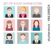 set of flat avatar icons. male... | Shutterstock .eps vector #486188824