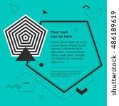 design template with op art...   Shutterstock .eps vector #486189619