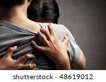 a husband embrace her sad wife  ... | Shutterstock . vector #48619012