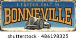 vintage tin sign collection... | Shutterstock .eps vector #486198325