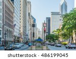 chicago  usa   may 30  2016 ... | Shutterstock . vector #486199045