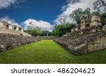 ball court of mayan ruins  ... | Shutterstock . vector #486204625