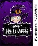 halloween card. framework ... | Shutterstock . vector #486209644