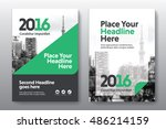 green color scheme with city... | Shutterstock .eps vector #486214159