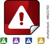 warning sign web button... | Shutterstock .eps vector #48621703