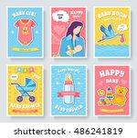 world breastfeeding week cards... | Shutterstock .eps vector #486241819