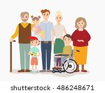 big modern family vector... | Shutterstock .eps vector #486248671