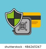 security money investment flat... | Shutterstock .eps vector #486265267