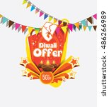 diwali offer banner design... | Shutterstock .eps vector #486266989