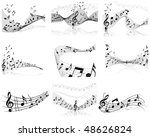 musical notes staff backgrounds ... | Shutterstock . vector #48626824