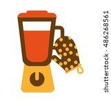 kitchen appliance supply icon... | Shutterstock .eps vector #486268561