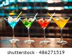 multicolored cocktails at the... | Shutterstock . vector #486271519