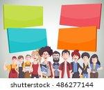 template for advertising... | Shutterstock .eps vector #486277144