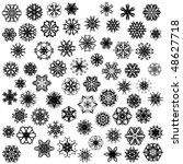 many snowflakes on white | Shutterstock . vector #48627718