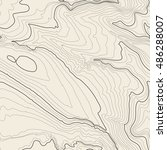 topographic map background... | Shutterstock . vector #486288007