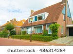 street with traditional vintage ... | Shutterstock . vector #486314284