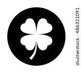four leaf clover icon. black... | Shutterstock .eps vector #486321091