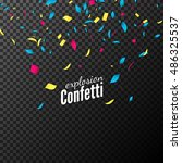 confetti isolated vector design.... | Shutterstock .eps vector #486325537