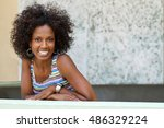 beautiful happy woman. | Shutterstock . vector #486329224
