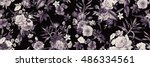 seamless floral pattern with... | Shutterstock . vector #486334561