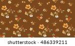 trendy seamless floral pattern... | Shutterstock .eps vector #486339211