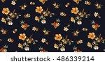 trendy seamless floral pattern... | Shutterstock .eps vector #486339214