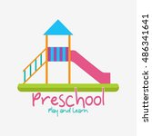 playgroup  preschool ... | Shutterstock .eps vector #486341641