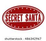 secret santa grunge rubber... | Shutterstock .eps vector #486342967