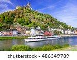romantic river cruises over... | Shutterstock . vector #486349789