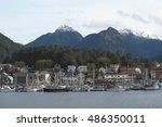 sitka harbor  baranof island ... | Shutterstock . vector #486350011