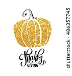 happy thanksgiving day  give... | Shutterstock .eps vector #486357745