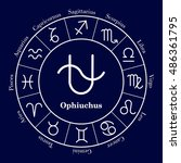 zodiac circle. set of icons.... | Shutterstock .eps vector #486361795