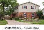 two story brick   siding house... | Shutterstock . vector #486387061