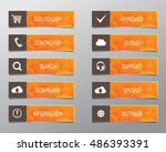 orange web buttons  high... | Shutterstock .eps vector #486393391